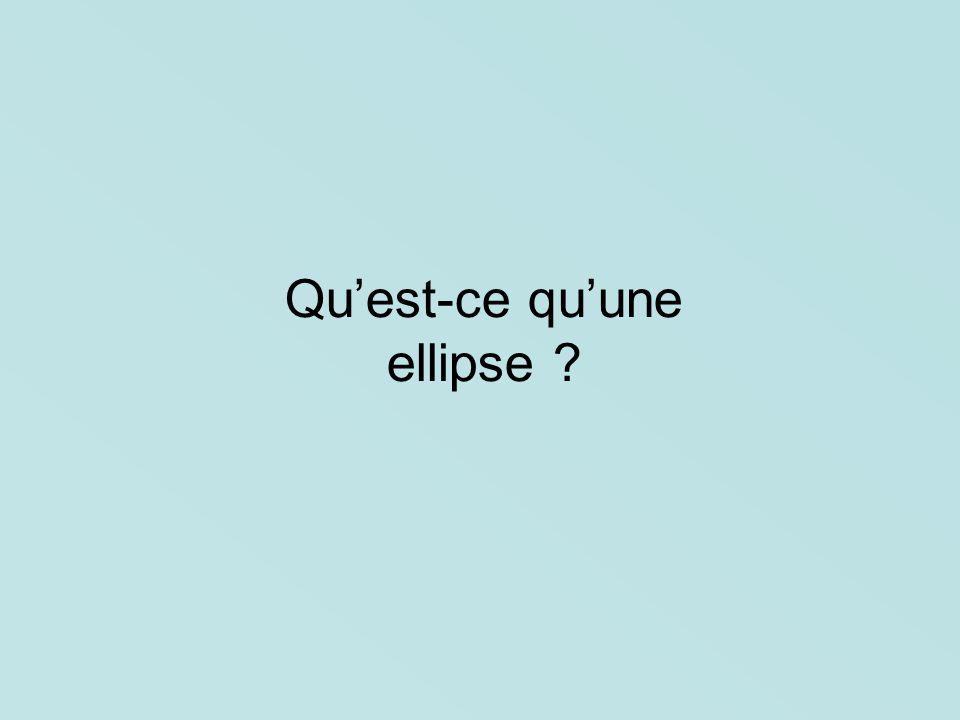 Qu'est-ce qu'une ellipse