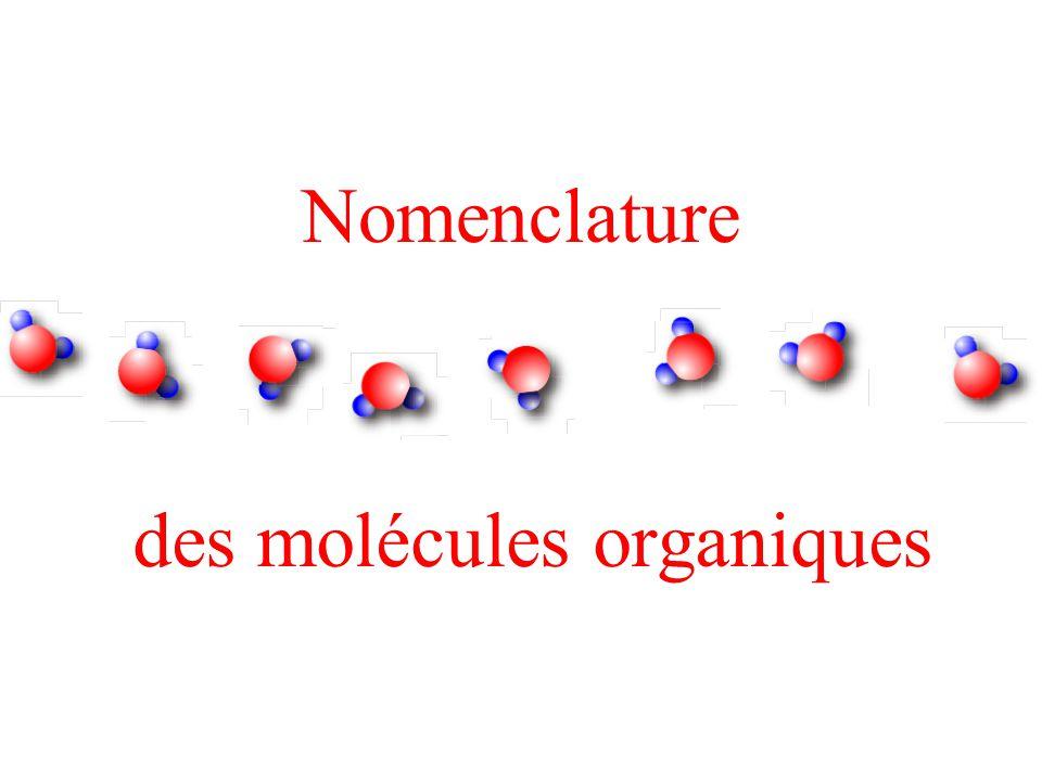 des molécules organiques
