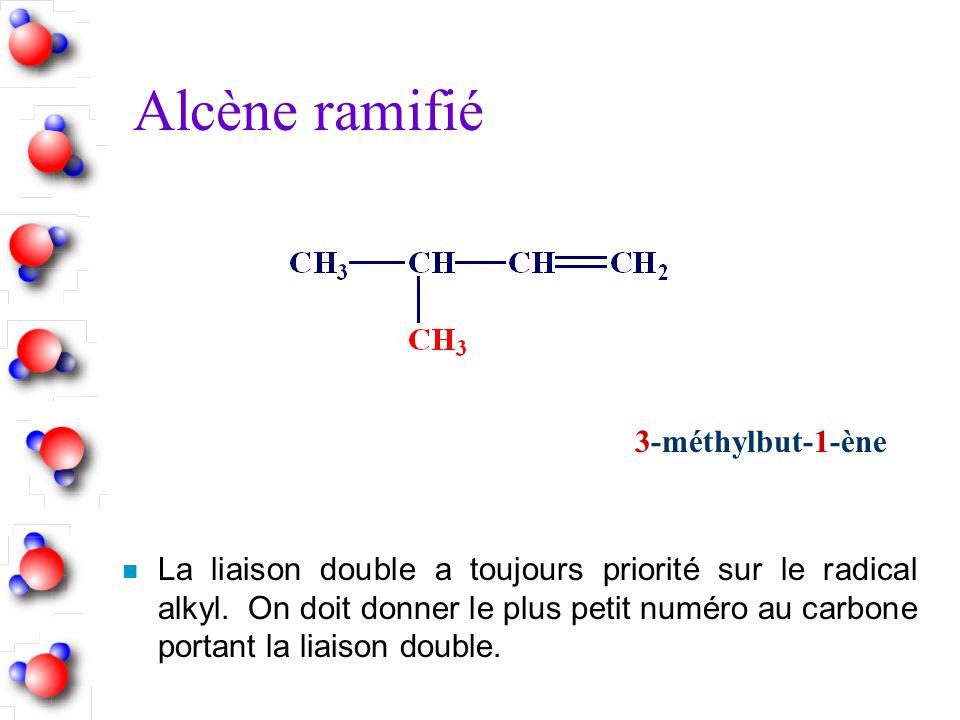 Alcène ramifié 3-méthylbut-1-ène
