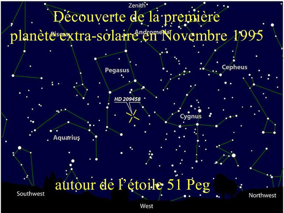 Découverte de la première planète extra-solaire en Novembre 1995