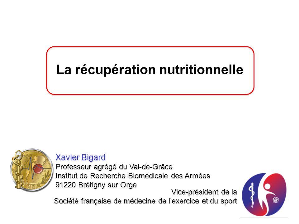 La récupération nutritionnelle