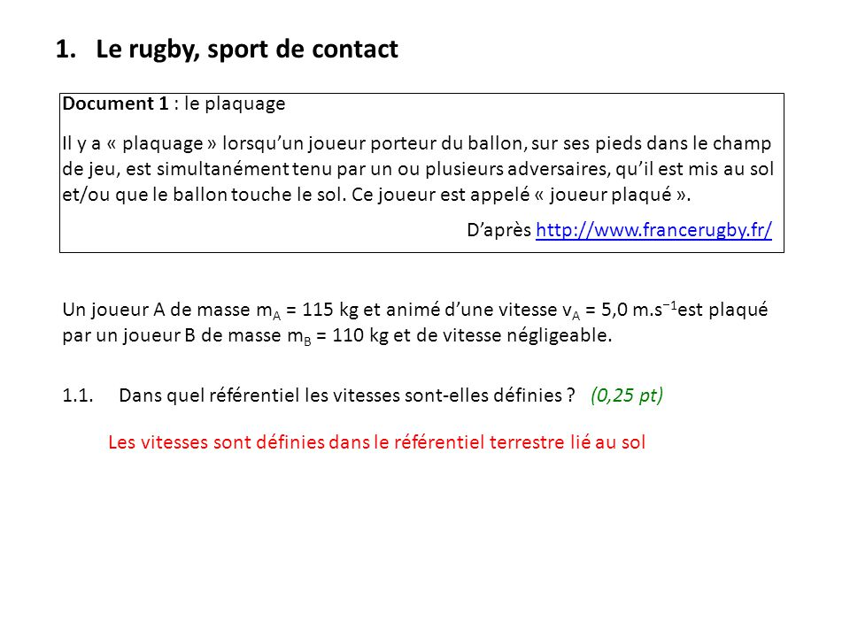 1. Le rugby, sport de contact
