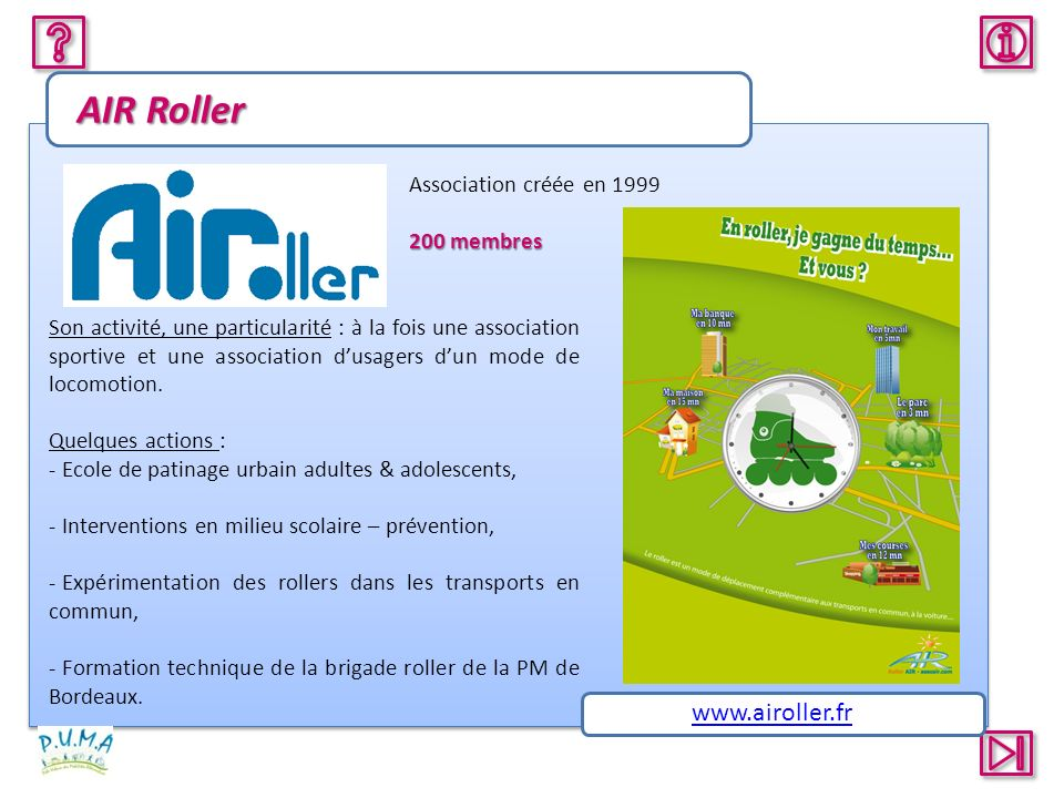 AIR Roller www.airoller.fr Association créée en 1999 200 membres