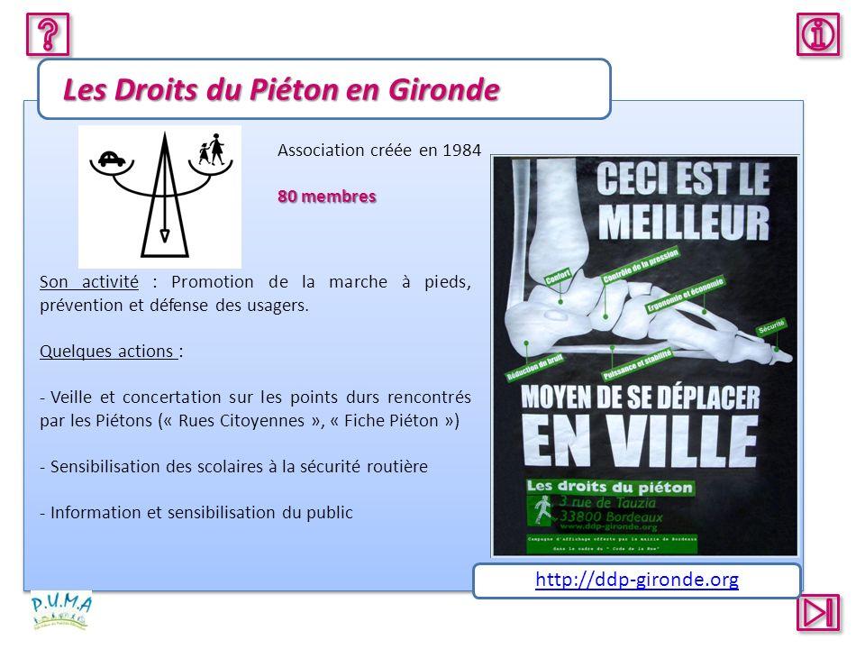 Les Droits du Piéton en Gironde