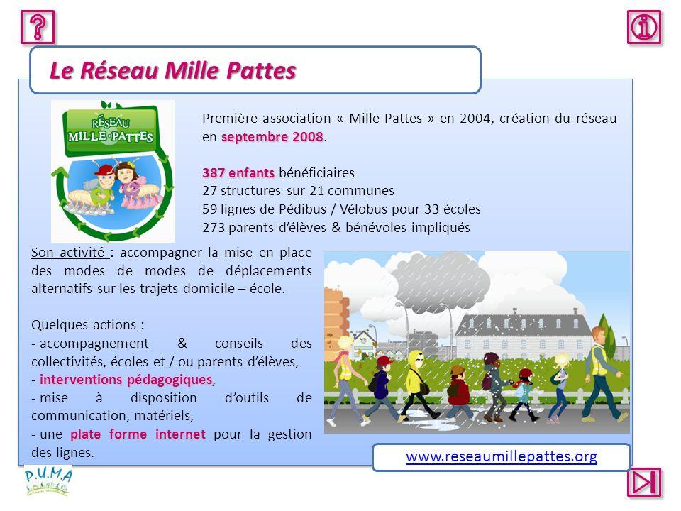 Le Réseau Mille Pattes www.reseaumillepattes.org