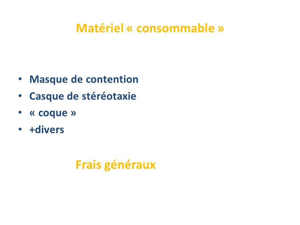 Matériel « consommable »