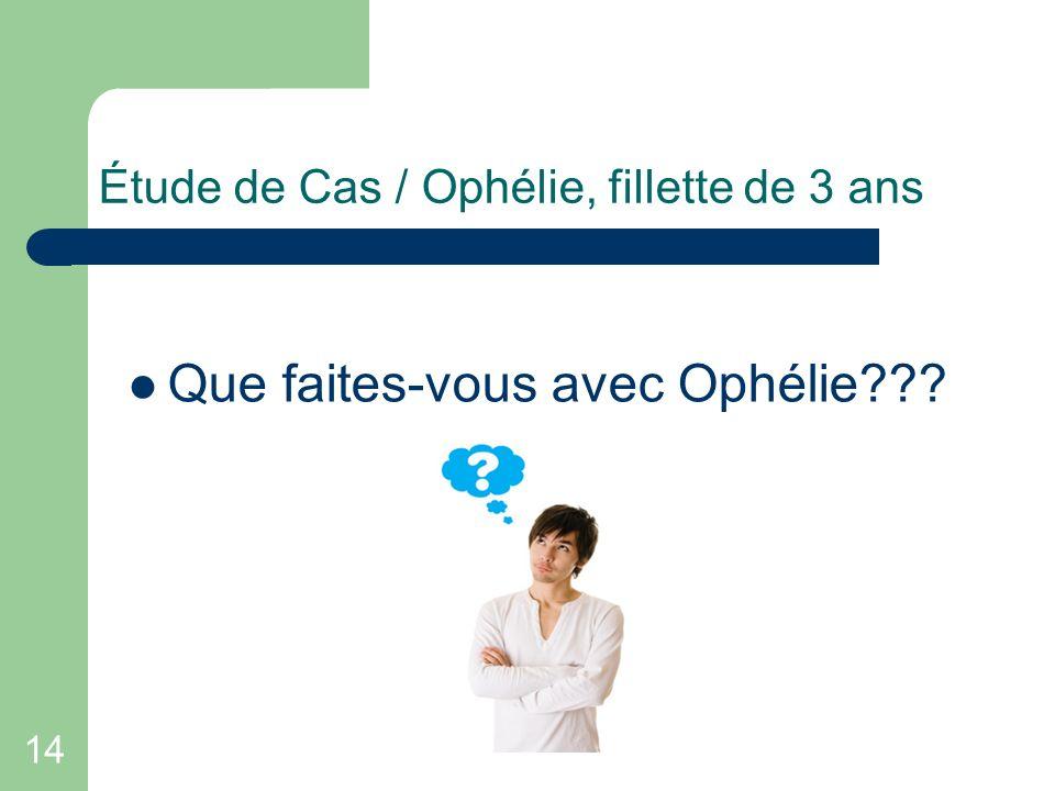 Étude de Cas / Ophélie, fillette de 3 ans