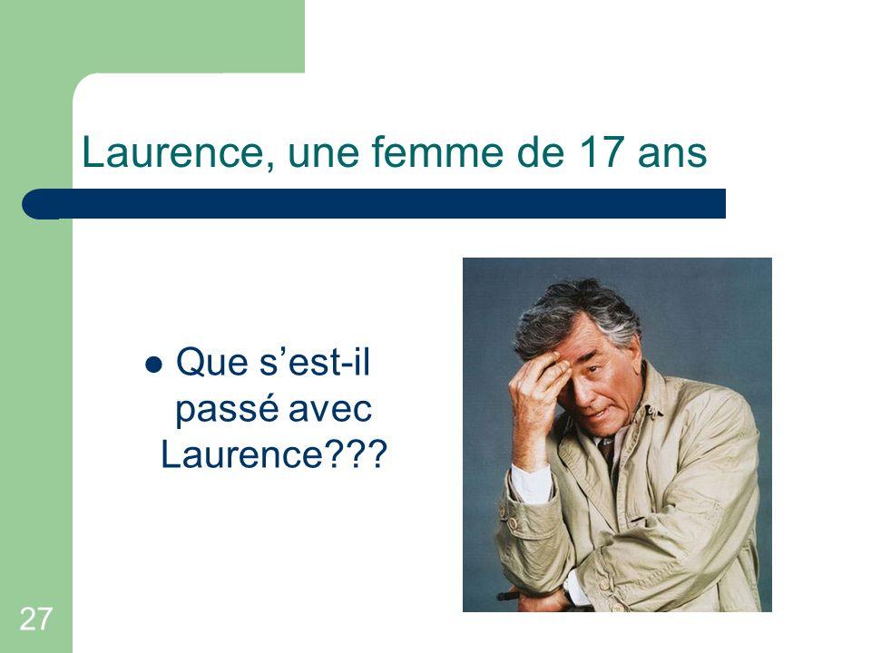 Laurence, une femme de 17 ans