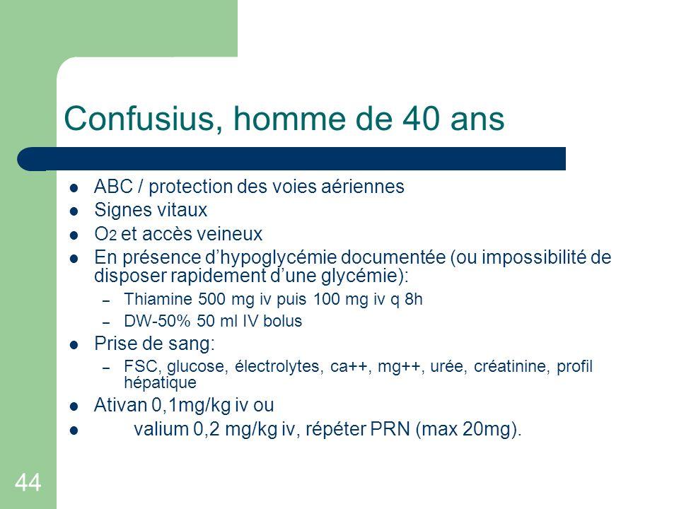 Confusius, homme de 40 ans 44 ABC / protection des voies aériennes