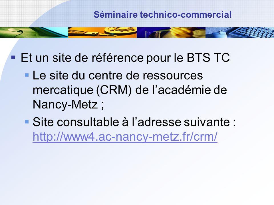 Et un site de référence pour le BTS TC