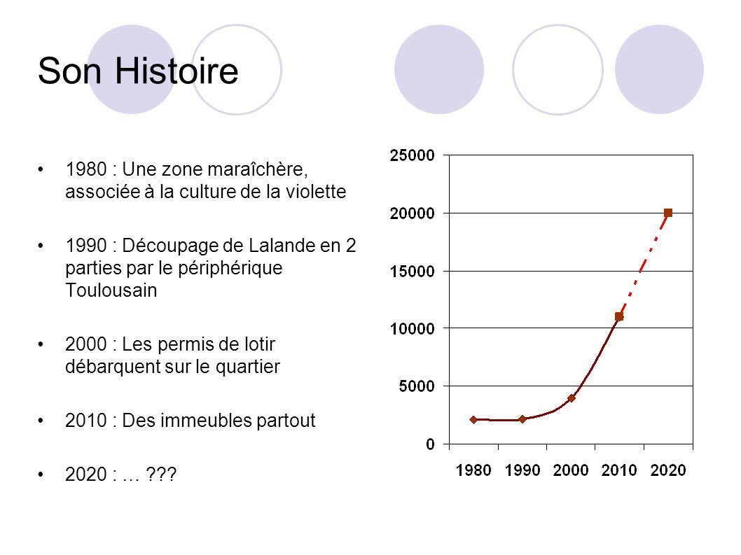Son Histoire 1980 : Une zone maraîchère, associée à la culture de la violette.