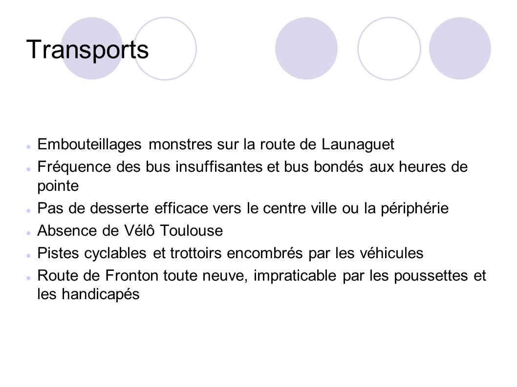 Transports Embouteillages monstres sur la route de Launaguet
