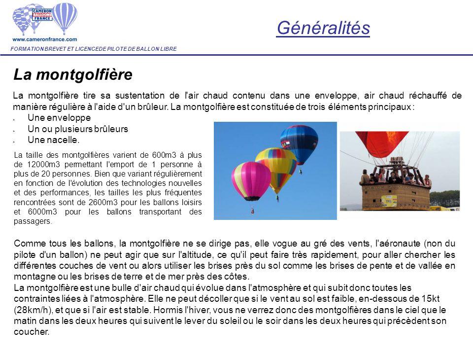 Généralités La montgolfière