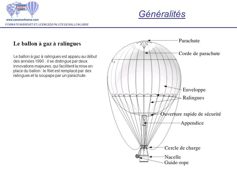 Généralités Le ballon à gaz à ralingues