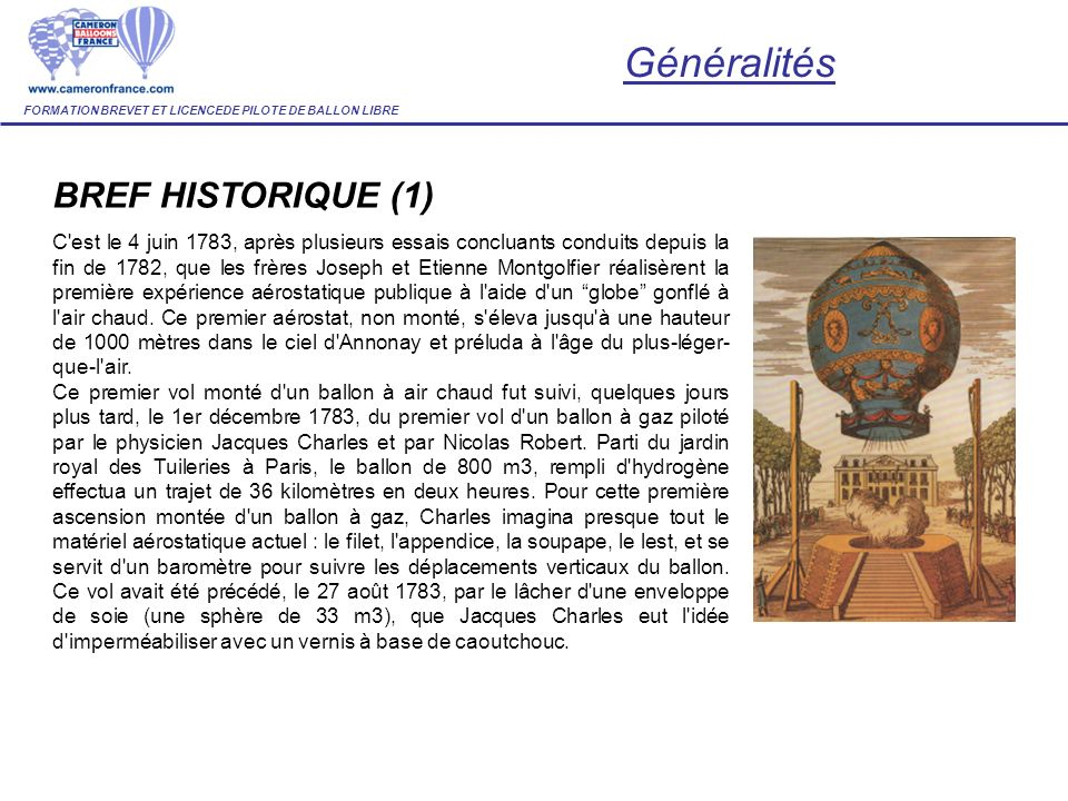 Généralités BREF HISTORIQUE (1)