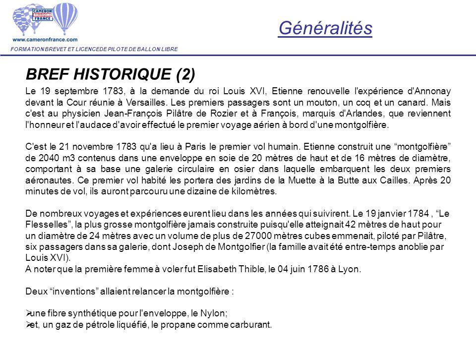 Généralités BREF HISTORIQUE (2)