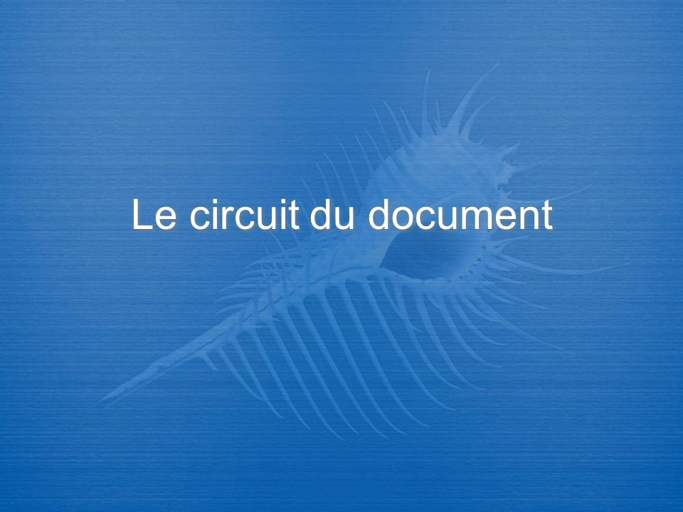Le circuit du document