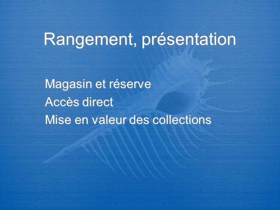 Rangement, présentation