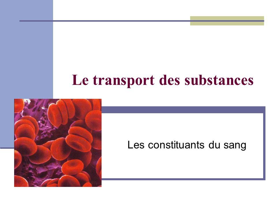 Le transport des substances