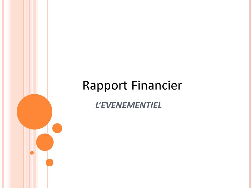 Rapport Financier L'EVENEMENTIEL Sample title page 18