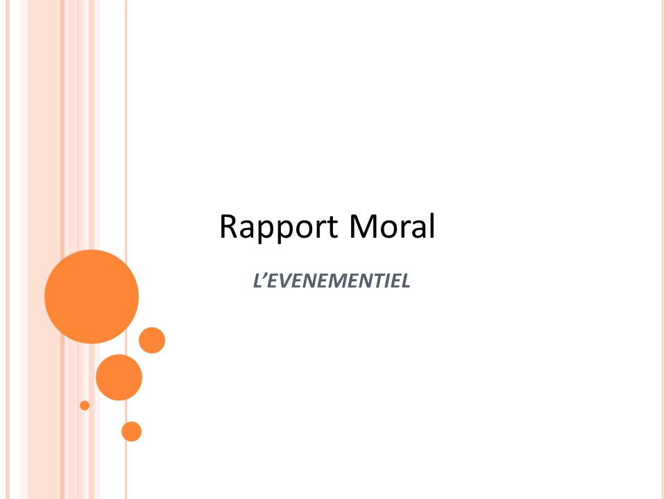 Rapport Moral L'EVENEMENTIEL Sample title page