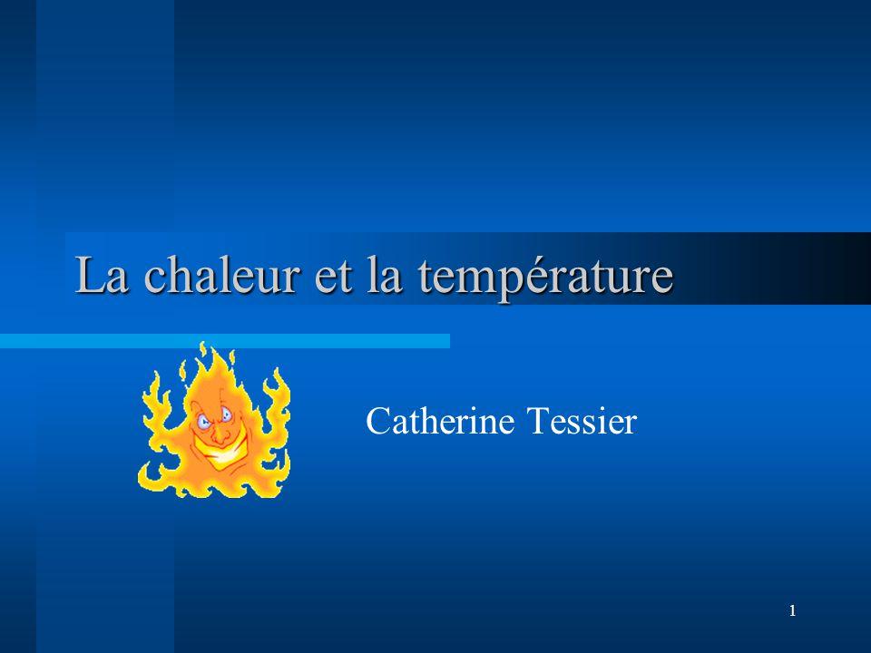 La chaleur et la température
