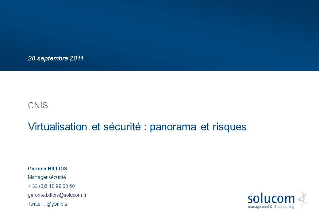 Virtualisation et sécurité : panorama et risques