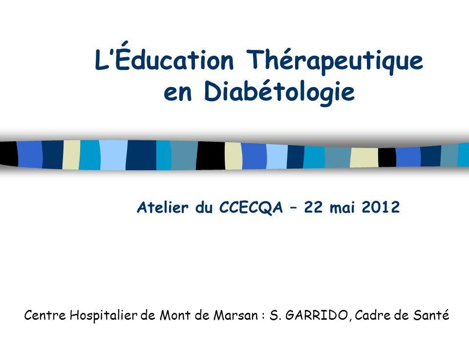 L'Éducation Thérapeutique en Diabétologie