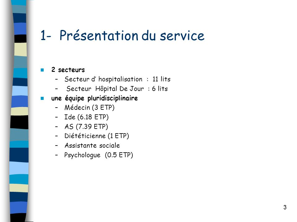 1- Présentation du service