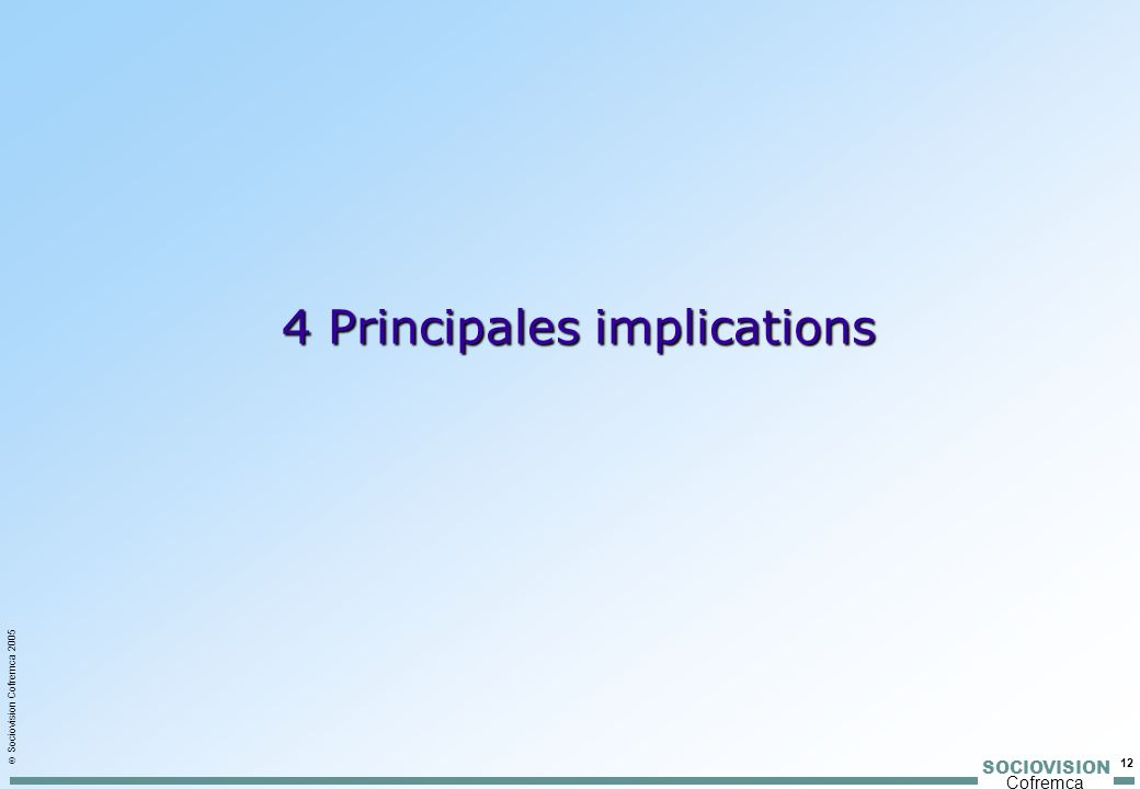 4 Principales implications