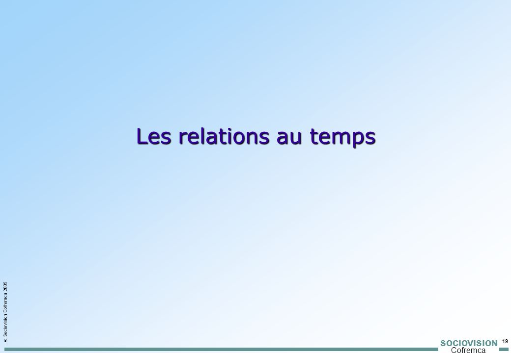 Les relations au temps