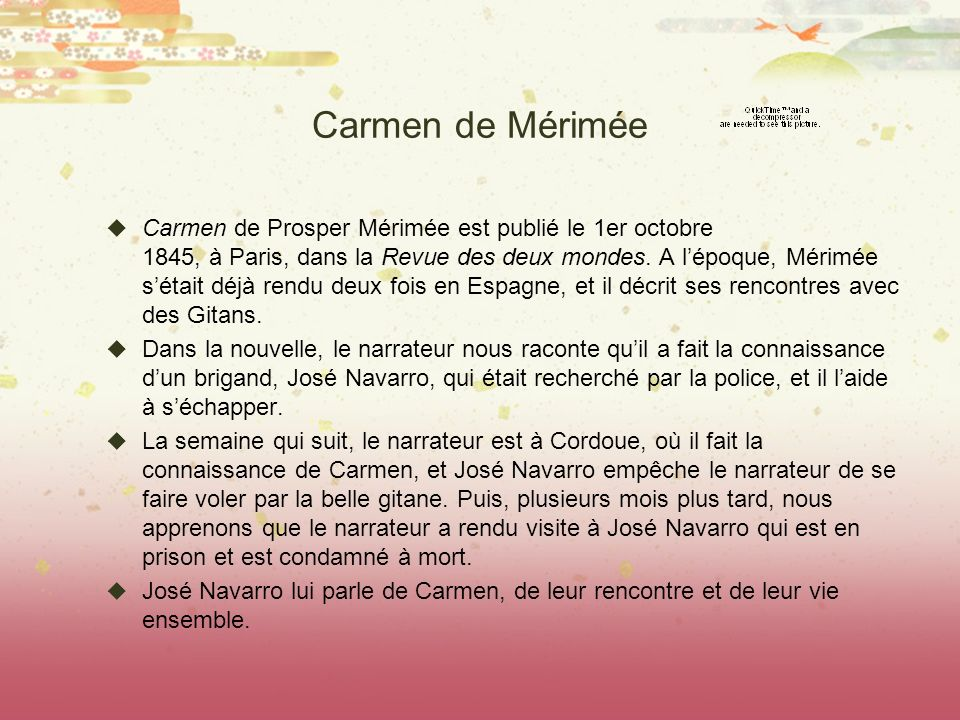 Carmen de Mérimée
