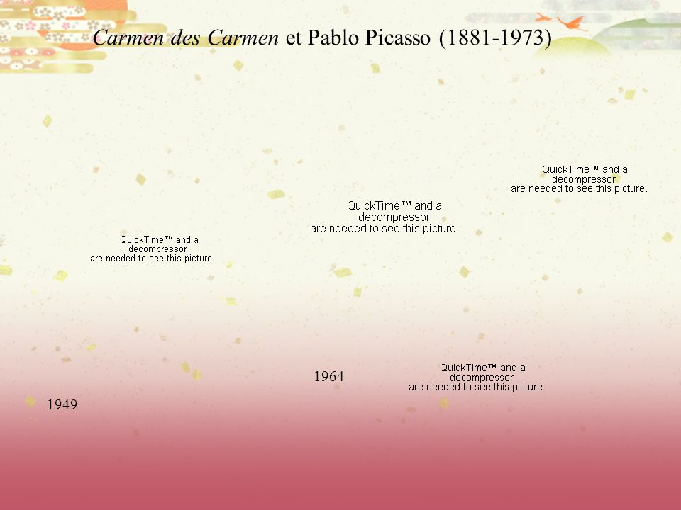 Carmen des Carmen et Pablo Picasso (1881-1973)
