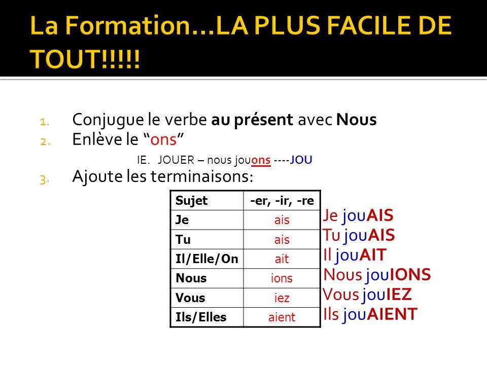 La Formation…LA PLUS FACILE DE TOUT!!!!!