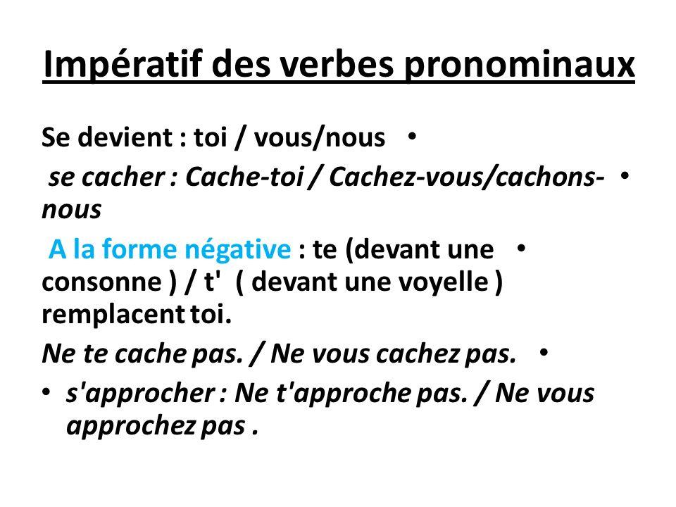 Impératif des verbes pronominaux