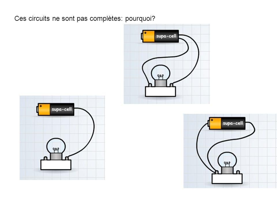 Ces circuits ne sont pas complètes: pourquoi