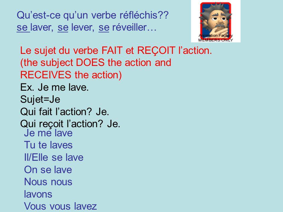 Qu'est-ce qu'un verbe réfléchis