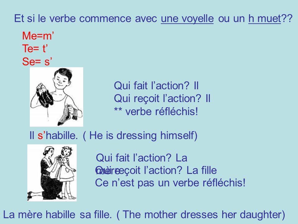 Et si le verbe commence avec une voyelle ou un h muet