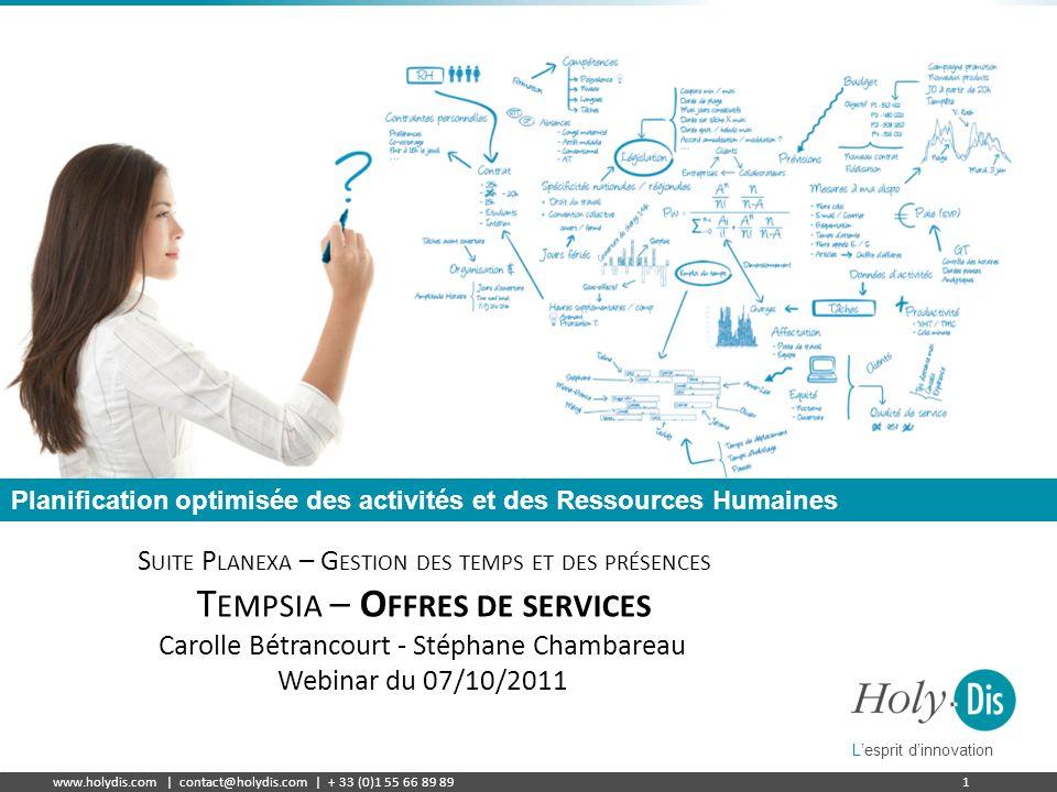 Tempsia – Offres de services
