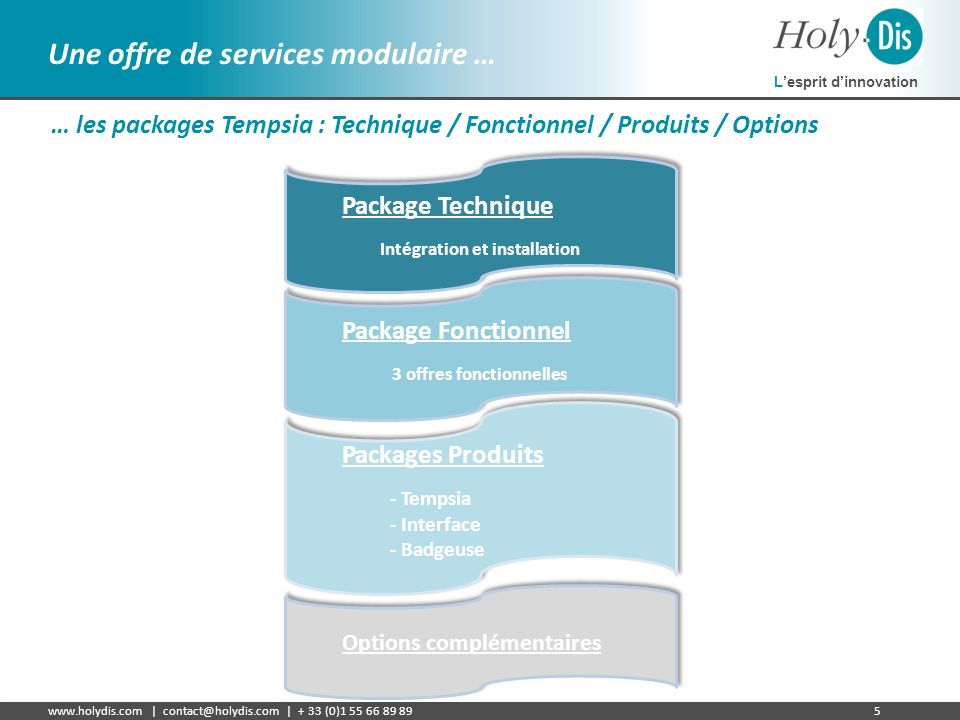 Intégration et installation 3 offres fonctionnelles