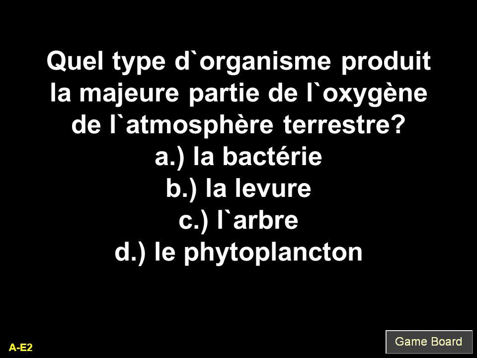 Quel type d`organisme produit la majeure partie de l`oxygène de l`atmosphère terrestre