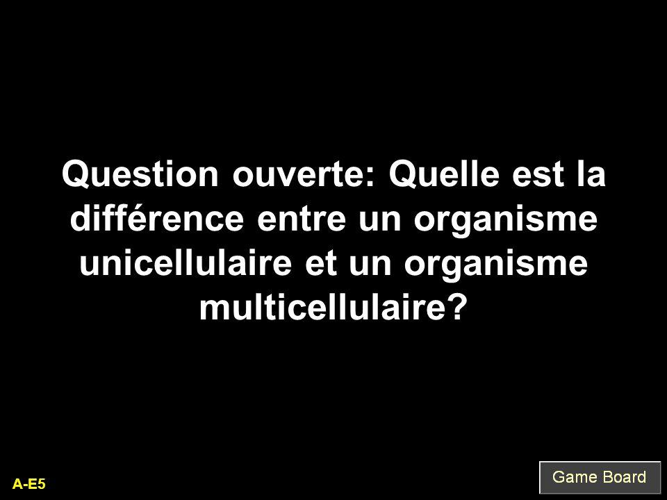 Question ouverte: Quelle est la différence entre un organisme unicellulaire et un organisme multicellulaire
