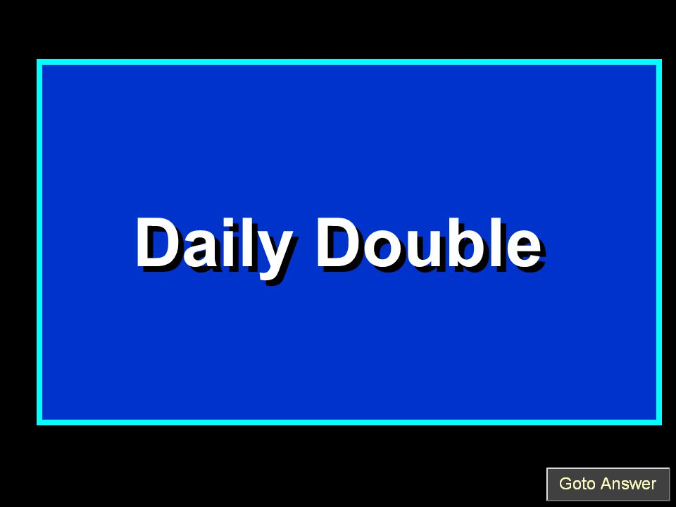 Daily Double Daily Double
