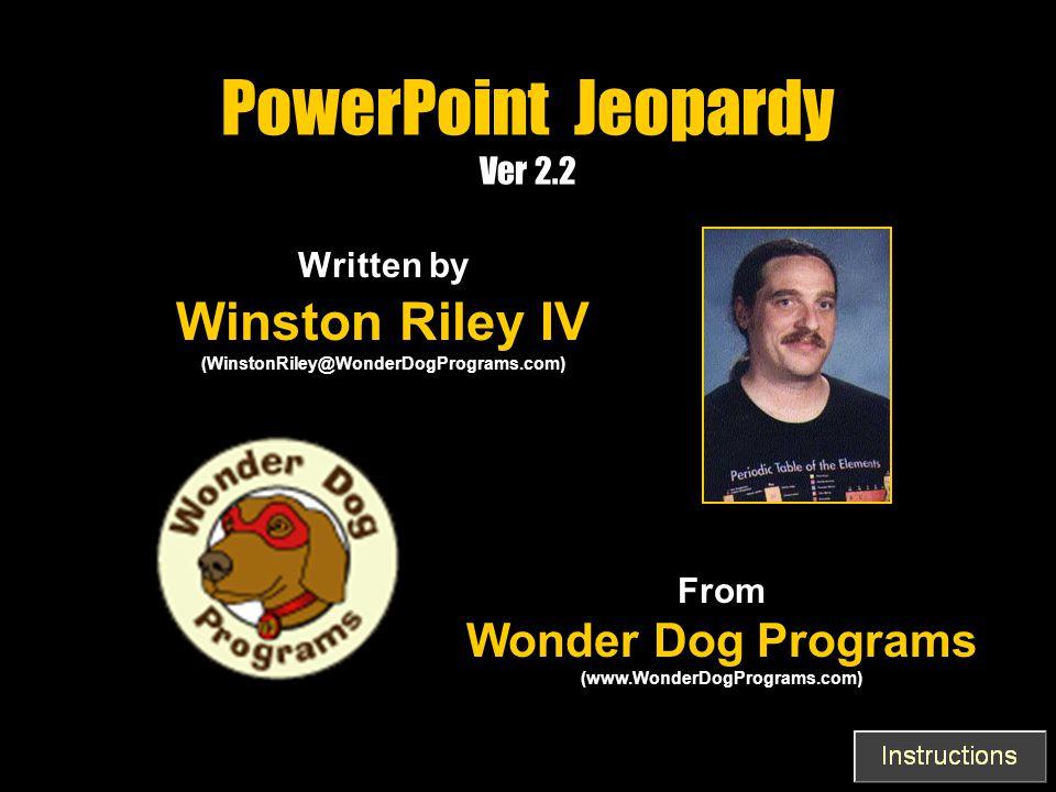 PowerPoint Jeopardy Ver 2.2