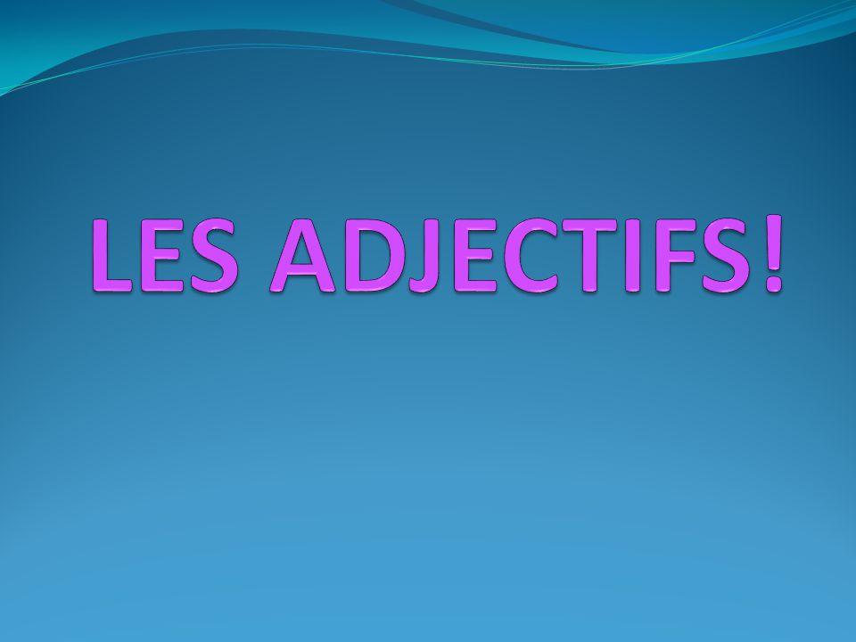 LES ADJECTIFS!