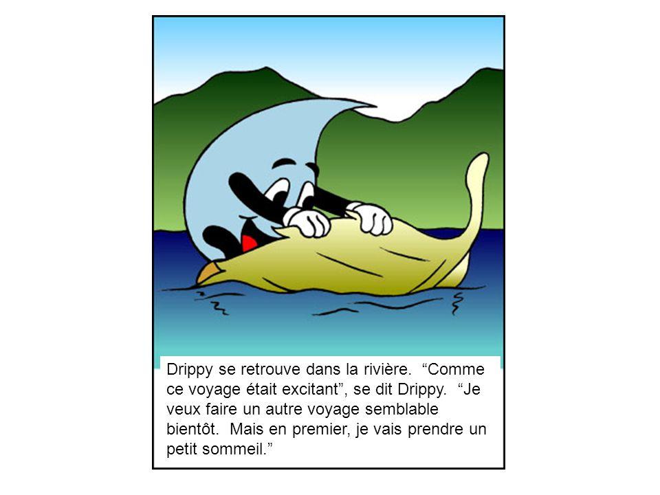 Drippy se retrouve dans la rivière
