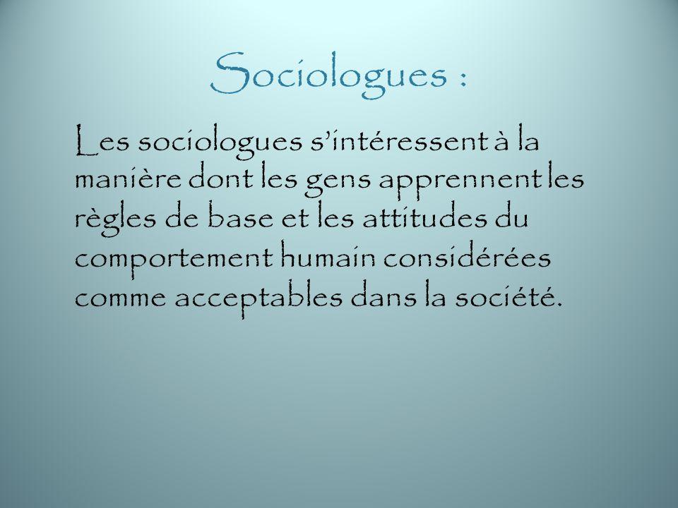 Sociologues :