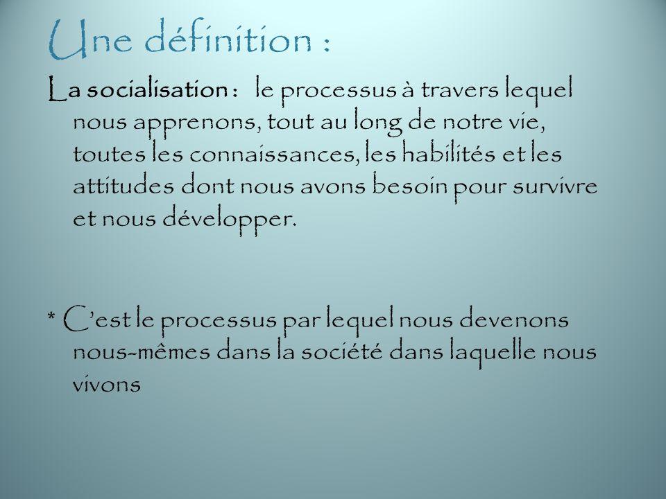 Une définition :