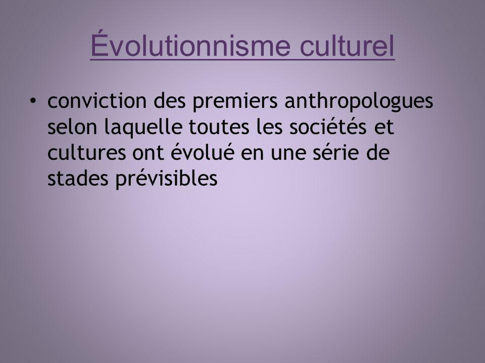 Évolutionnisme culturel