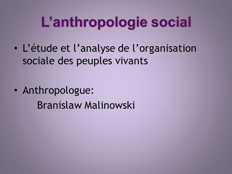 L'anthropologie social